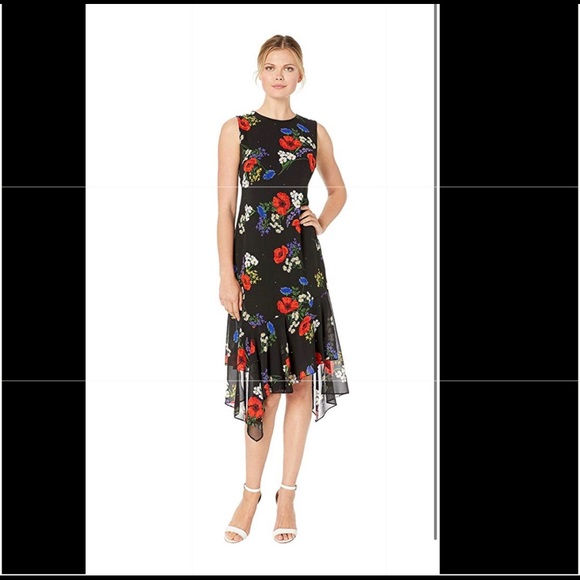 Calvin Klein Dresses & Skirts - Calvin Klein dress floral beautiful size 4 NEW
